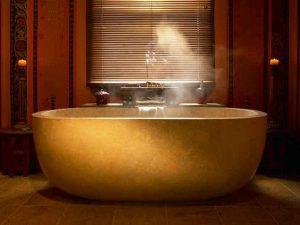 Steaming bath