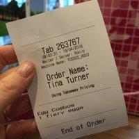 Tossed receipt